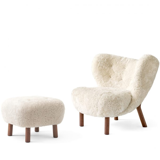 Little Petra Sessel Lounge Chair Ohrensessel Schaffell Moonlight Pouf Atd1 Walnuss Andtradition Viggo Boesen Tagwerc